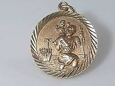 9ct gold St Christopher pendant for sale.