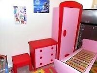 Girls IKEA bedroom set
