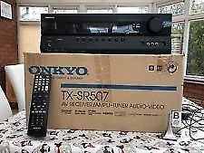 Onkyo tx sr507 Amplifier Nearly new condition hardly used. BOXED. Home Cinema. Surround 5.1