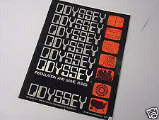 1972 Magnavox Odyssey #1 Pong videogame console manual controls