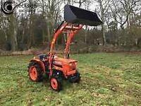 Kubota, tractors quads, plant etc