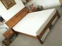 Memory foam ERGOFLEX super king size mattress 2yr old