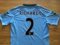 Man City Micah Richards Match Worn Shirt with signatures front & back.£100 ono