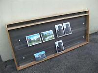 Purpose made card display rack; pine & 3D plastic; 107cm x 50cm; Shop display