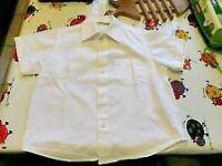 5 x 100% cotton short sleeve white school shirts size 3 M&S