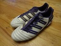 Adidas ADIPOWER PREDATOR XTRX SG football boots white purple NEW SIZE 11