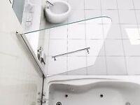 Shower Screen. Over bath, glass frame. Brand new in box.
