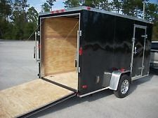 BLACK 14' ENCLOSED TRAILER