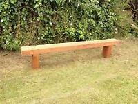 garden sleeper bench 1.8 m