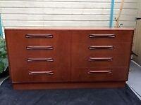 vintage retro G Plan Fresco 8 chest of drawers / sideboard