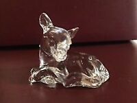 Vintage glass fawn