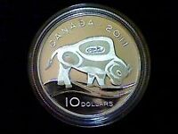 """2011 RCM 10$ Fine Silver """"The Wood Bison""""."""