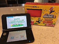 Red 3ds Xl with games