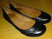 Next black leather pumps size 4
