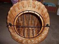 Wicker Cat Carrier Basket Pet