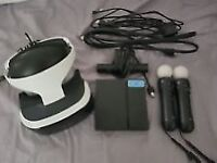 PS4 vr with motion controllers and games