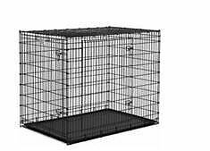 XXL Double Door Dog Crate for Large Dogs (100+ lbs)