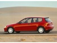 Red Honda Civic SI 1600 Twin Cam - One Owner - Maintained regardless of cost.