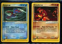 Groudon and Kyogre Pokemon Card (Mint condition)