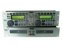 DJ Decks - Omnitronic CDP820 With Samplers & Twin CD