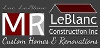 M.R.LeBlanc Construction Inc. Hiring FullTime Seasonal Carpenter