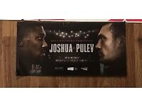 3 tickets for Anthony Joshua's title fight