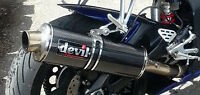 03-05 R6 To 06-09 R6S Devil Carbon Fibre Exhaust with downpipes