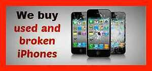 **WE BUY ALL iPHONES 5s OR NEWER** BROKEN/NEW