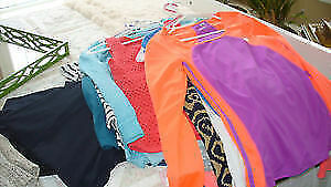 Women's assorted tops, sizes Medium + Large
