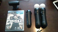 PS3 MOVE WITH MOTION CONTROLLER, SENSOR AND GAME