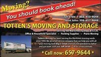 TOTTEN'S MOVERS 657-9644 Local and service to Ontario / Que