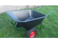 LARGE HEAVY DUTY WHEELBARROW, LARGE FARM TROLLEY 240 LTR 2 WHEELS