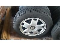 Seat leon alloy wheels 195 65 15 Dunlop sp sport 4d winter tyres