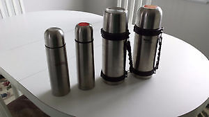 4 STAINLESS STEEL THERMOS