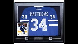 Auston Matthews Framed Signed Jersey and Photo