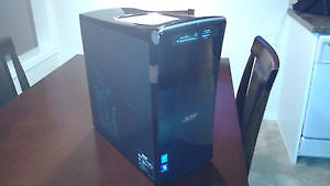 """i5 Acer Aspire Desktop computer tower with 19"""" monitor"""