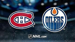 2 BILLET TICKET GRIS 303A CANADIENS EDMONTON OILERS CENTER GRIS