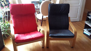 IKEA POANG Chair - Red