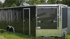 FOR SALE CLOSED IN CARGO TRAILER, SNOW MOBILE TRAILERS, WORK TRA