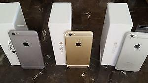 Iphone 6 & 6 Plus + 128GB , 64GB & 16GB UNLOCKED NEW CONDITION IN BOX WITH ACCESSORIES 90 DAY WARRANTY INCLUDED