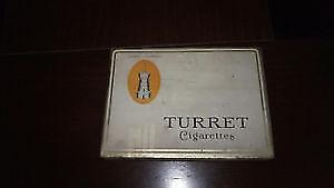 Vintage Turret cigarrette tin box - perfect condition