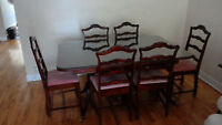 Table a diner antique - Valeur de 2000$+ - Parfaite condition