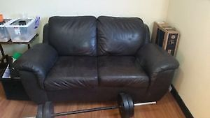 Loveseat - Real Leather