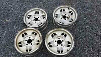 "4 Aluminium Rims, 15"" diameter 8"" wide"