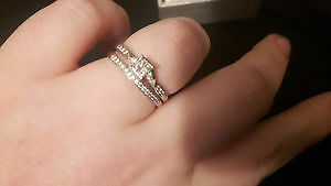 Size 10 engagement ring and band Peterborough Peterborough Area image 1