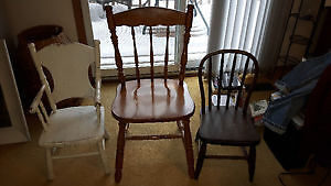 """NICE ANTIQUE SOLID WOOD CHILDREN'S CHILD'S CHAIRS,  """"HOOP BACK"""" Cambridge Kitchener Area image 7"""