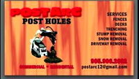 Post Holes Call Today Book Tomorrow!
