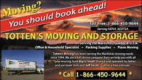 TOTTEN'S MOVERS 902-876-8364 Serving NS, NB, PE, Que, ON and USA