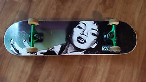 One month old skateboard