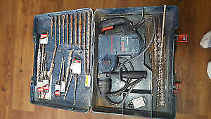 Bosch hammer drill sds plus with 28 bits